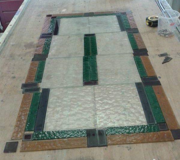 Bestaande glas in lood panelen verlood en in HR++ glas geplaatst Steenwijk